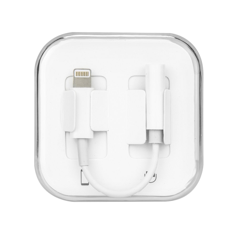 Apple iPhone 7 / 8 audio adaptér HF 3,5mm jack bílý box