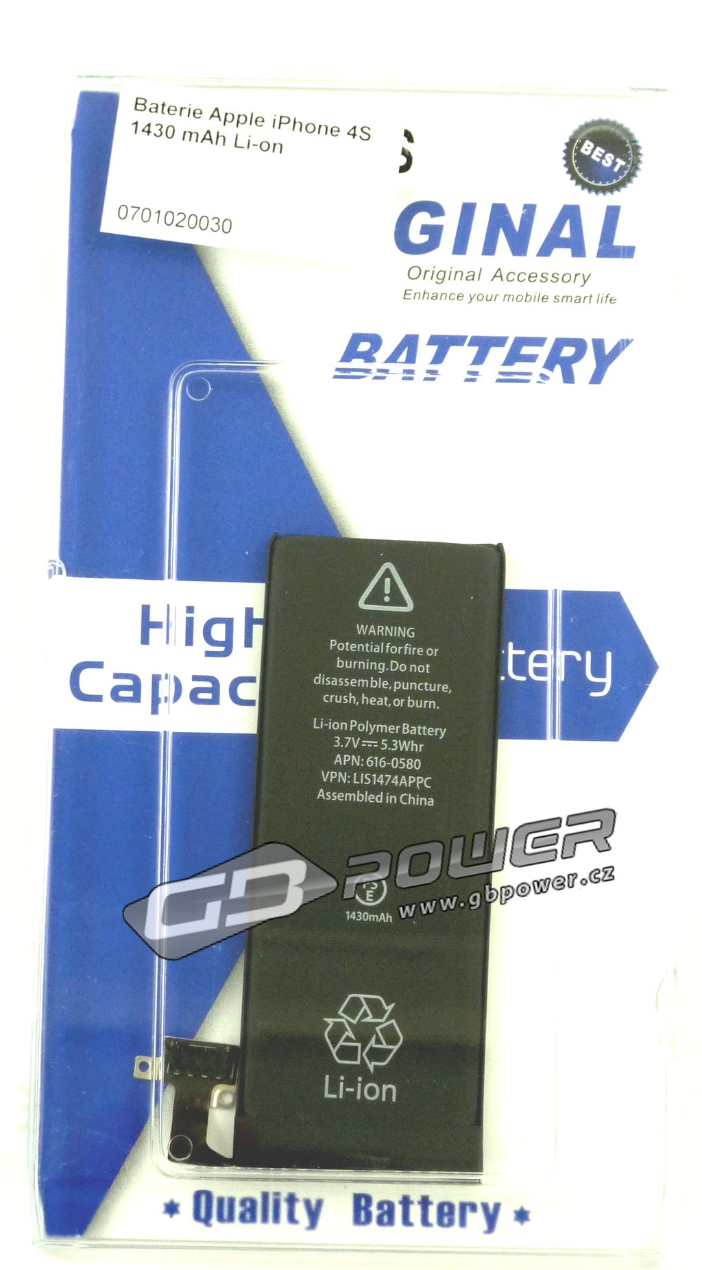 Baterie Apple iPhone 4S 1430 mAh Li-on