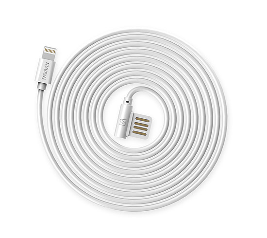 Datový kabel Apple iPhone 5 / 5S / 6 / 6S / 7 REMAX Rayen RC-075i Lightning bílý