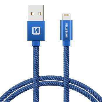 Datový kabel SWISSTEN Textile Apple iPhone 5   6   7   8   X Lightning 0 5511d7469cf