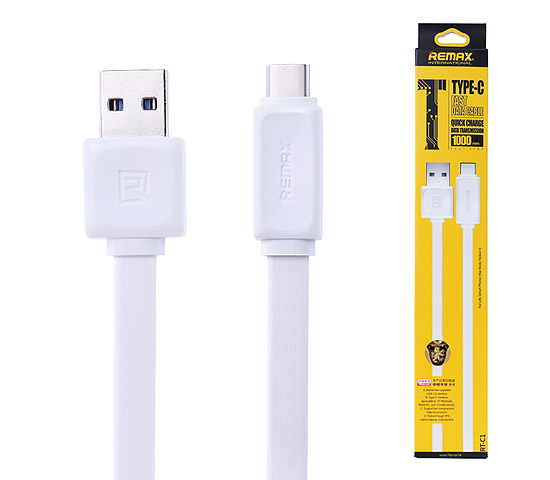 Datový kabel USB REMAX Fast data RT-C1 Type-C bílý 1m