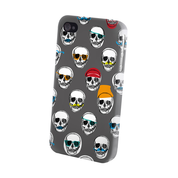 Pouzdro Fashion Crazy Skulls Microsoft Lumia 640