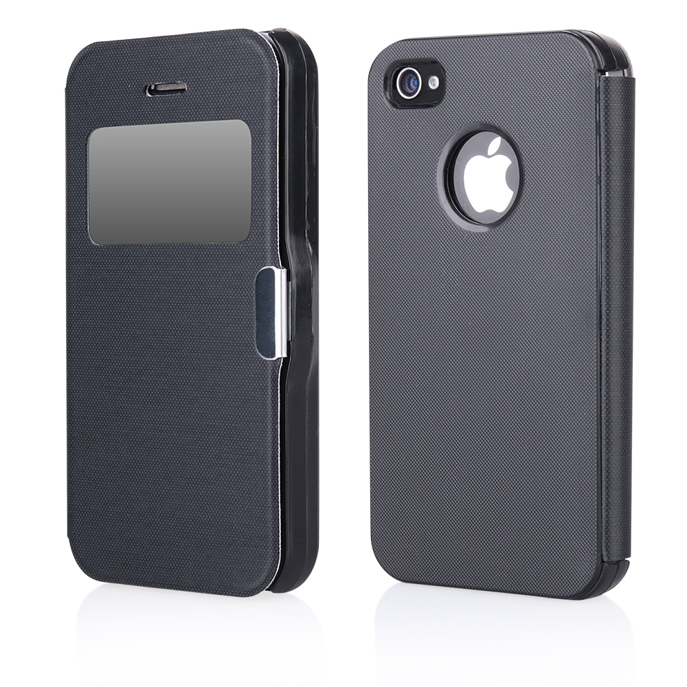 Pouzdro Flip Case Magnetic Apple iPhone 4 / 4S černé