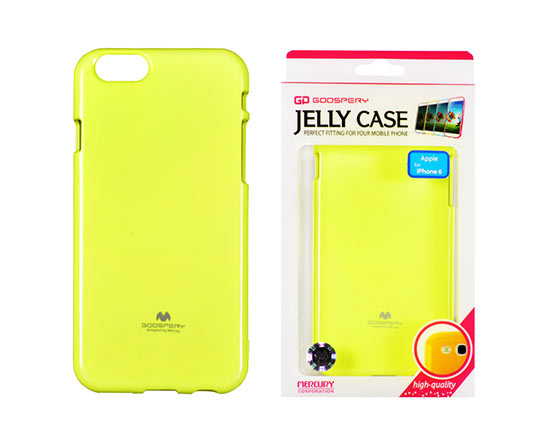 Pouzdro Jelly Mercury Fluo Apple iPhone 6  5,5 Plus limetkové