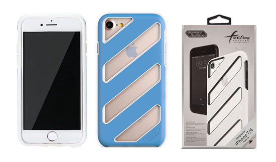Pouzdro REMAX Etui Feeling Apple iPhone 6 / 7 modré