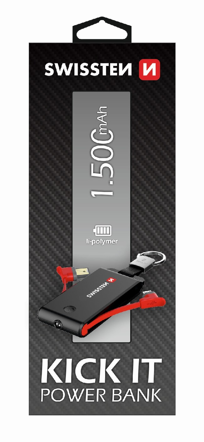 Power Bank SWISSTEN Kick it 1500mAh