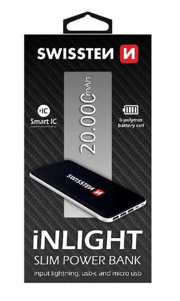 Power Bank SWISSTEN iNLIGHT 20000mAh