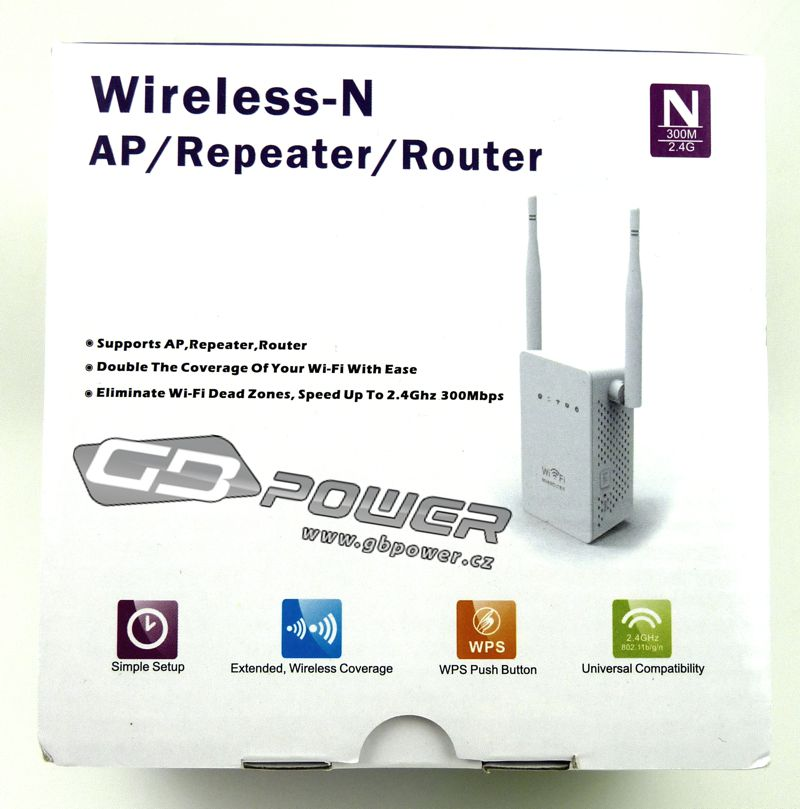 Wireless- N AP / Repeater / Router  2,4Ghz 300Mps