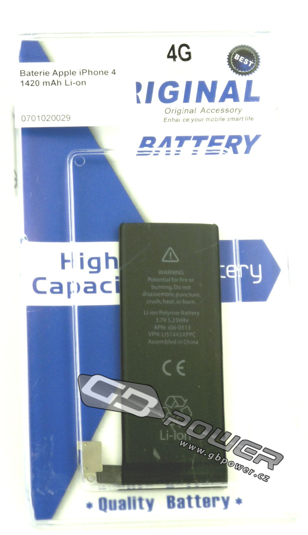 Baterie Apple iPhone 4 1420 mAh Li-on