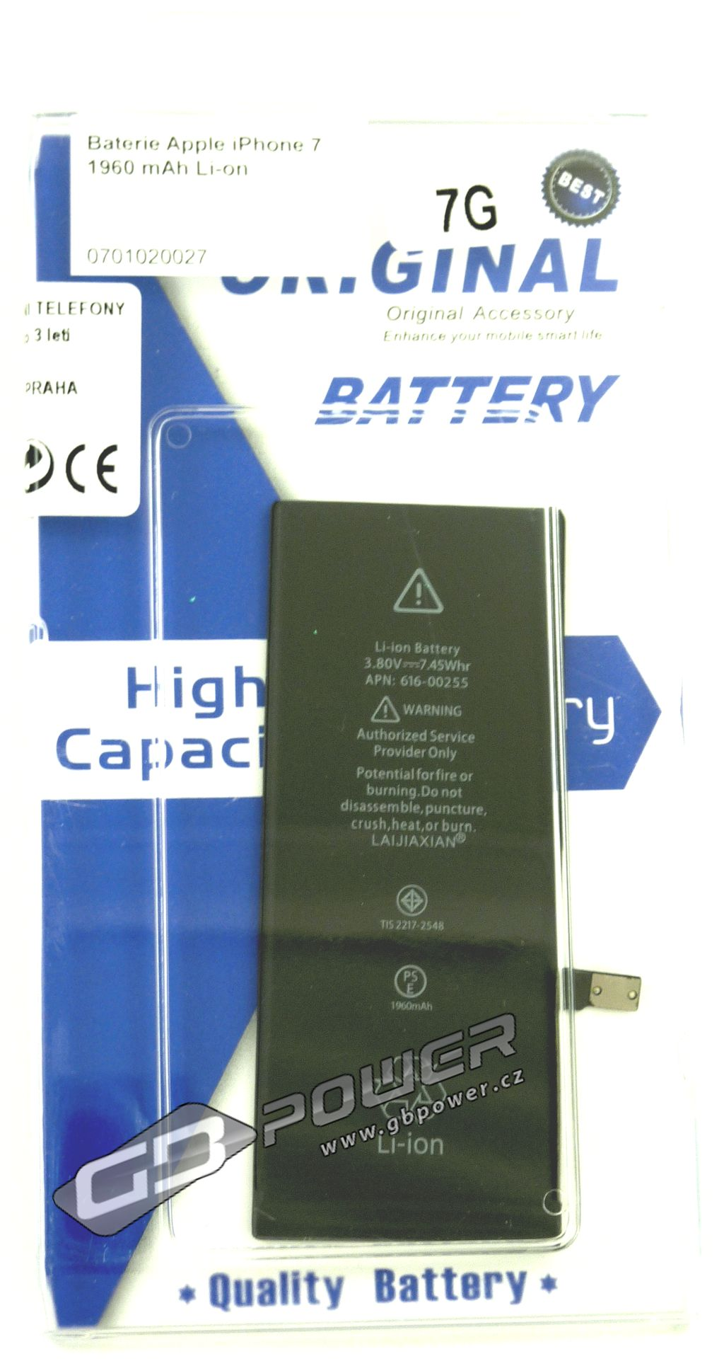 Baterie Apple iPhone 7 1960 mAh Li-on